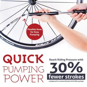 mini bike pump with gauge by Pro Bike