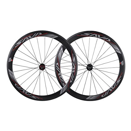 SAVADECK 50mm 3K Carbon Fiber Clincher Bike wheelset Review