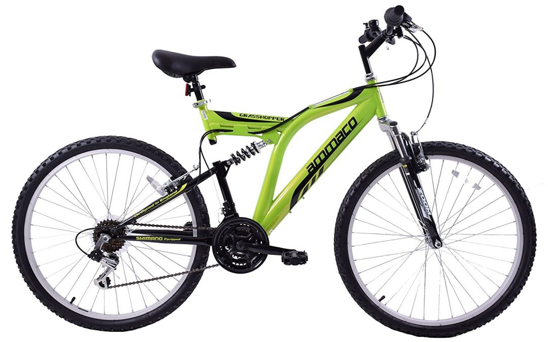 Ammaco grasshopper 26″ wheel dual suspension mountain bike review