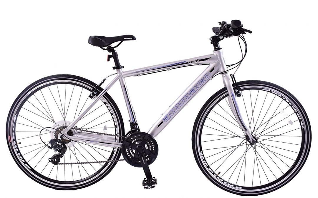 Ammaco CS300 men's white hybrid sports bike Review