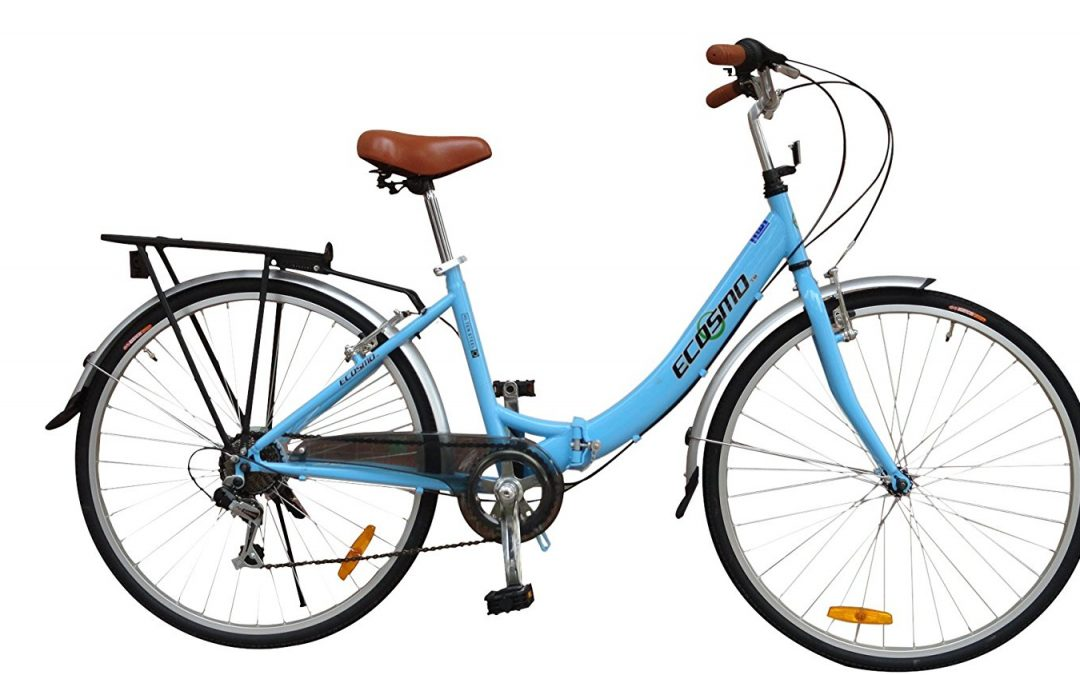ECOSMO 26″ New Folding Ladies Shopper City Bicycle Review