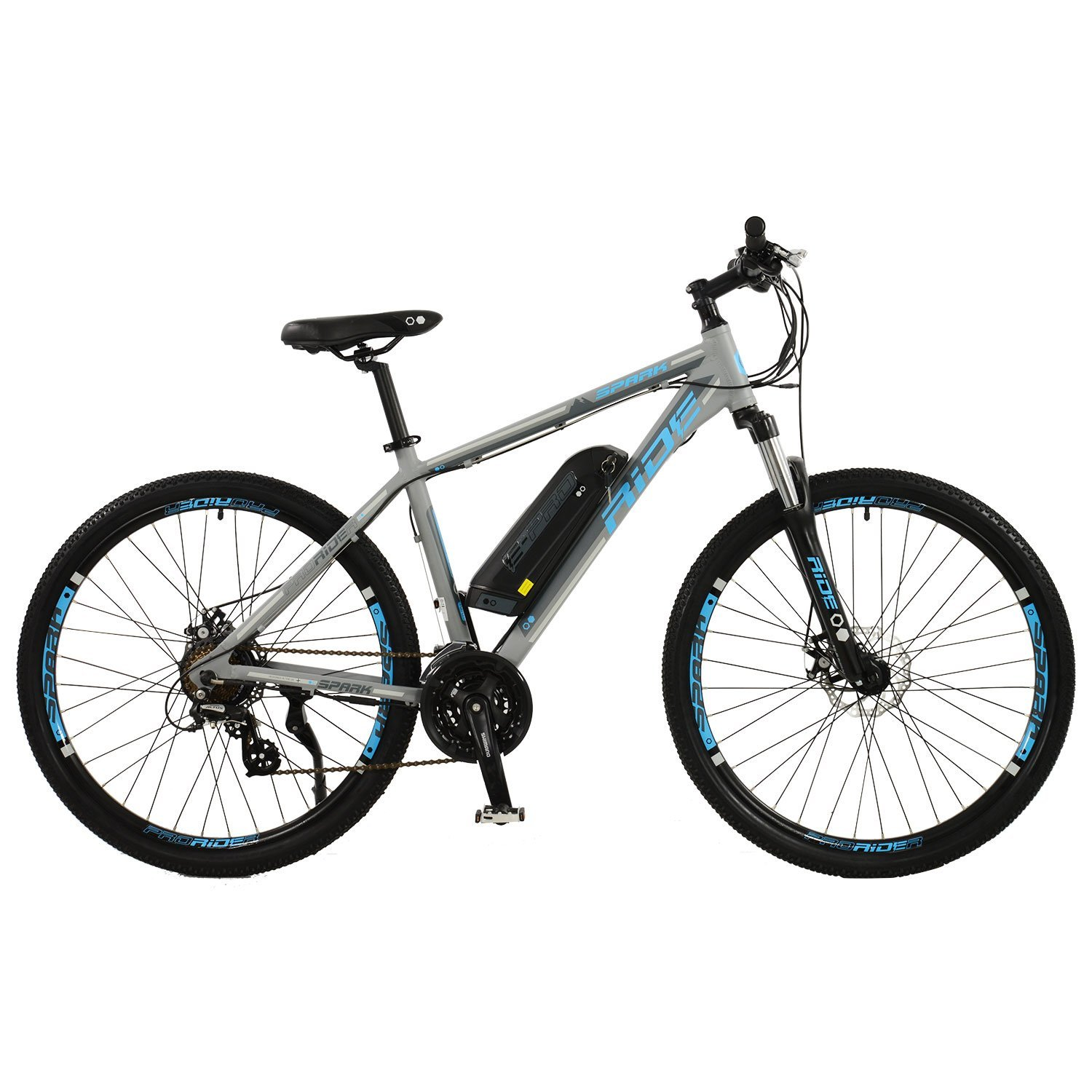 spark mens 27 5 wheel electric mountain bike. Black Bedroom Furniture Sets. Home Design Ideas