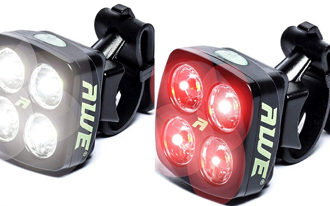 AWE® AWEBlitz™ 8 LED's USB Rechargeable Bicycle Set Review