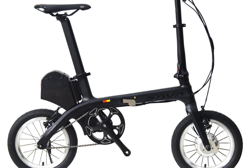"SAVA E0 14"" Carbon Fiber Frame Folding Electric Bicycle"