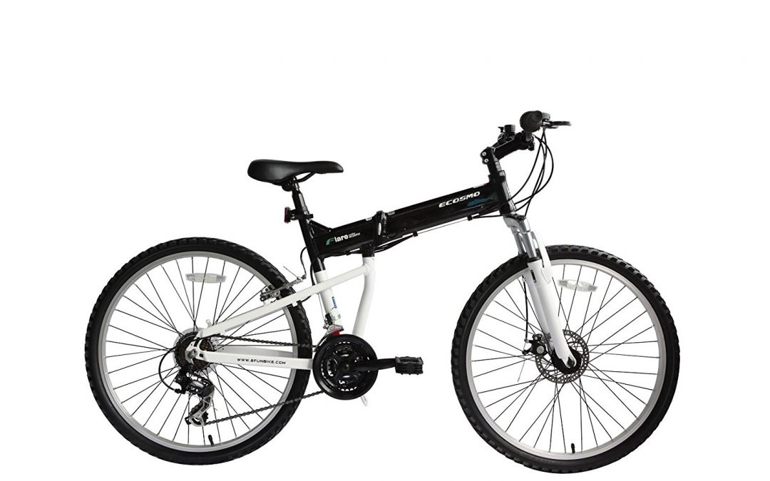 ECOSMO 26″Wheels New Aluminium Folding MTB Bicycle Bike