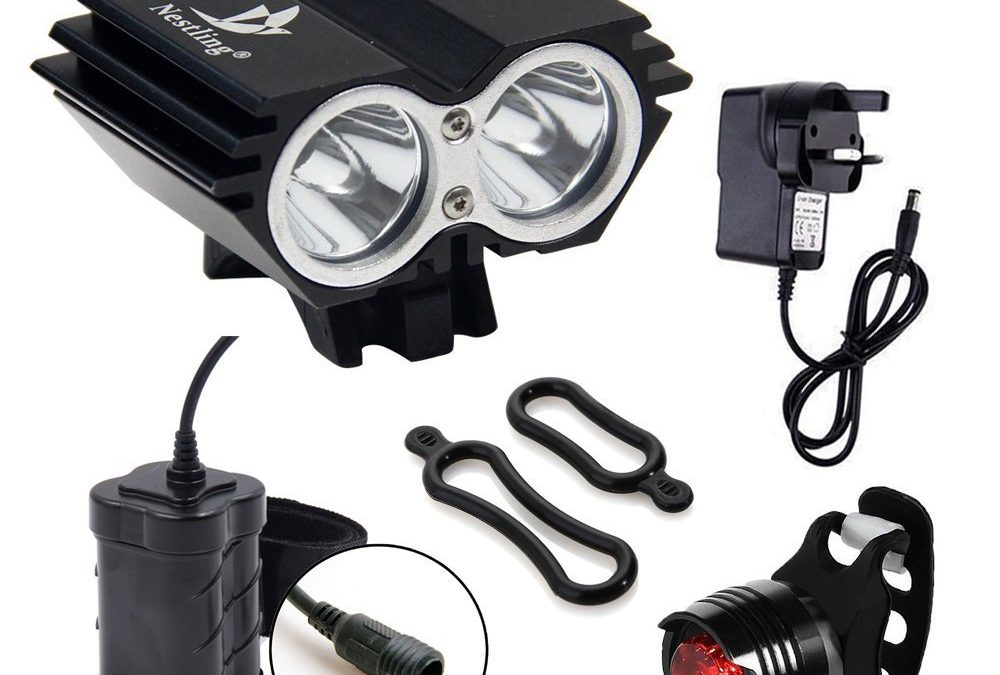 CDC 5000 Lumen 2 x Cree XML Bicycle light Review