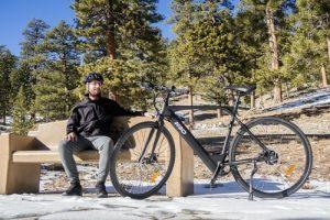 senior bike rider